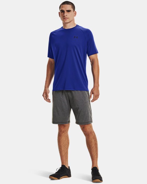 Men's UA Velocity Short Sleeve, Blue, pdpMainDesktop image number 1