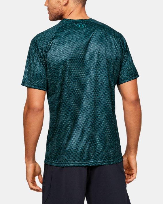 Men's UA Velocity 2.0 Printed Short Sleeve, Green, pdpMainDesktop image number 2