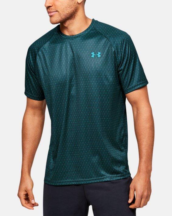 Men's UA Velocity 2.0 Printed Short Sleeve, Green, pdpMainDesktop image number 0