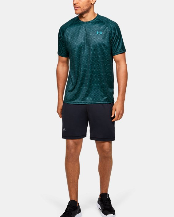 Men's UA Velocity 2.0 Printed Short Sleeve, Green, pdpMainDesktop image number 1