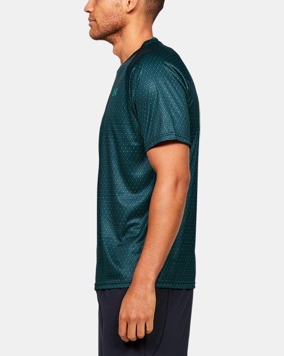Men's UA Velocity 2.0 Printed Short Sleeve, Green, pdpMainDesktop image number 3