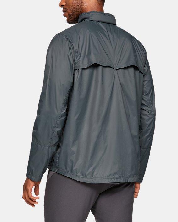 Men's UA Storm Accelerate Pro Shell Jacket, Gray, pdpMainDesktop image number 2