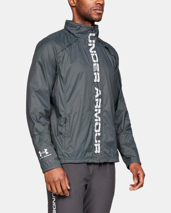 Men's UA Storm Accelerate Pro Shell Jacket, Gray, pdpMainDesktop image number 0