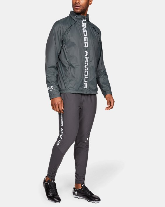 Men's UA Storm Accelerate Pro Shell Jacket, Gray, pdpMainDesktop image number 1