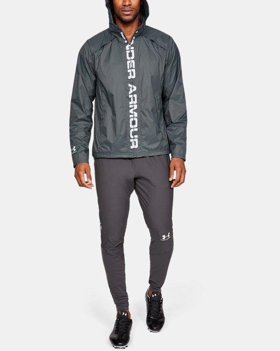 Men's UA Storm Accelerate Pro Shell Jacket, Gray, pdpMainDesktop image number 7