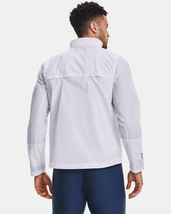 Men's UA Storm Accelerate Pro Shell Jacket, White, pdpMainDesktop image number 2