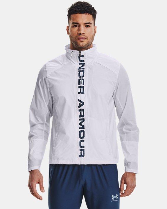 Men's UA Storm Accelerate Pro Shell Jacket, White, pdpMainDesktop image number 1