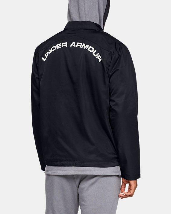 Men's UA Accelerate Touchline Jacket, Black, pdpMainDesktop image number 2