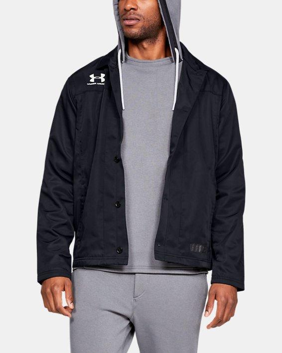 Men's UA Accelerate Touchline Jacket, Black, pdpMainDesktop image number 0