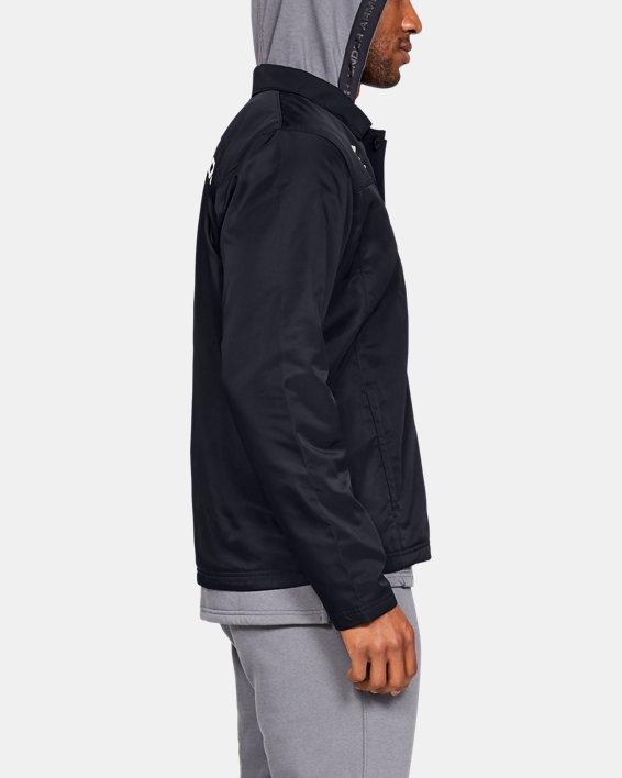 Men's UA Accelerate Touchline Jacket, Black, pdpMainDesktop image number 3