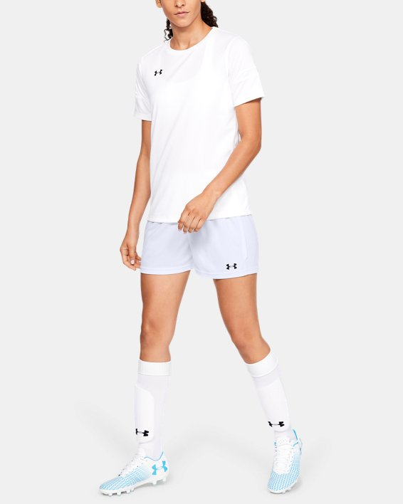 Women's UA Maquina 2.0 Shorts, White, pdpMainDesktop image number 1