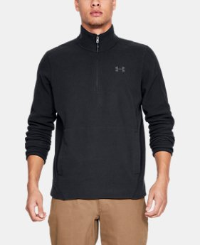 New Arrival Men's UA Zephyr Fleece Solid ¼ Zip  1  Color Available $65