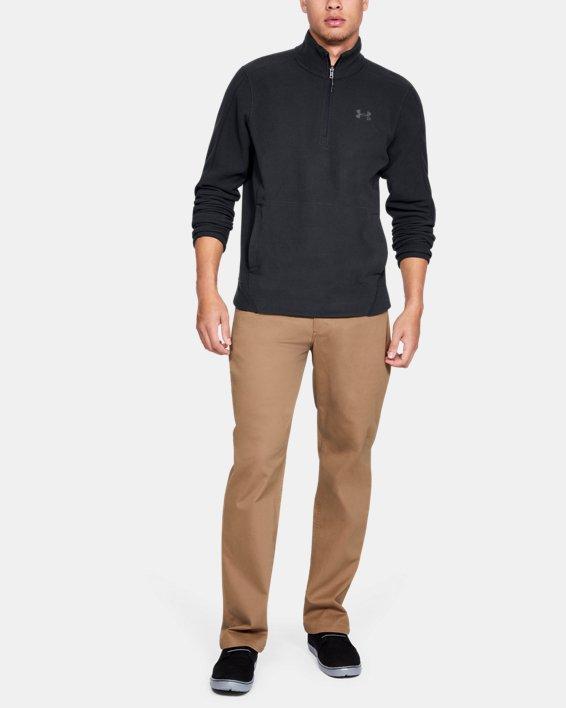 Men's UA OffGrid Fleece Solid ¼ Zip, Black, pdpMainDesktop image number 1