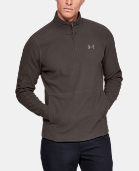 New Arrival Men's UA Zephyr Fleece Solid ¼ Zip  4  Colors Available $65