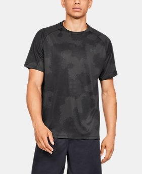 3c356151d760 Men s UA Tech™ 2.0 Printed Short Sleeve FREE U.S. SHIPPING 2 Colors  Available  14.99