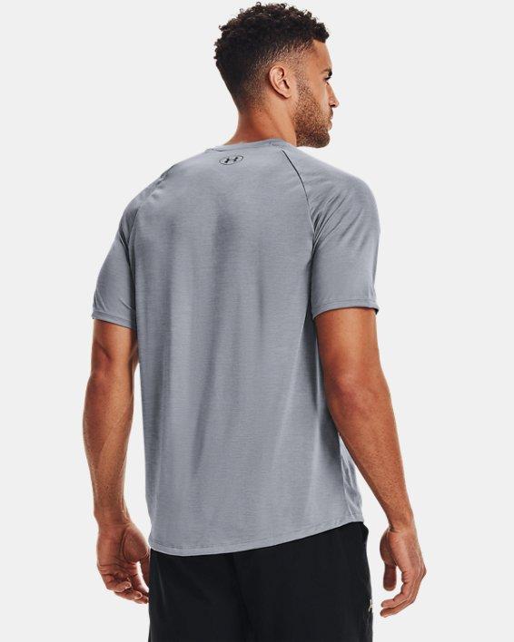 Men's UA Tech™ V-Neck Short Sleeve, Gray, pdpMainDesktop image number 2