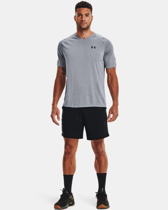 Men's UA Tech™ V-Neck Short Sleeve, Gray, pdpMainDesktop image number 1