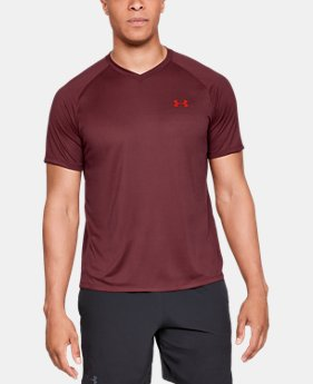 Men's UA Tech™ V-Neck Short Sleeve  6  Colors Available $25