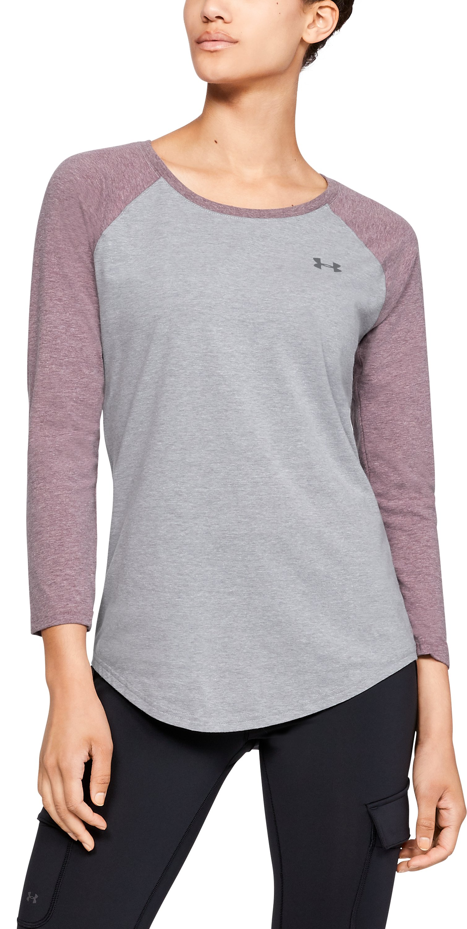 UA W's Outdoor Utility T, STEEL LIGHT HEATHER, zoomed