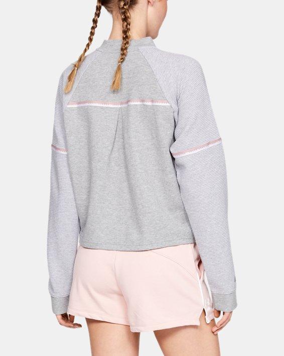 Women's UA Unstoppable Double Knit Bomber Jacket, Gray, pdpMainDesktop image number 2