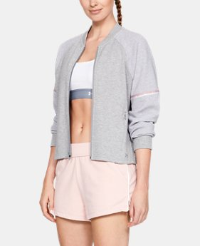New Arrival  Women's UA Unstoppable Double Knit Bomber Jacket  2  Colors Available $100