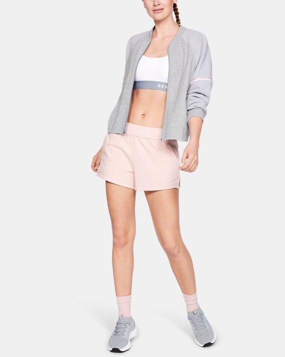 Women's UA Unstoppable Double Knit Bomber Jacket, Gray, pdpMainDesktop image number 1