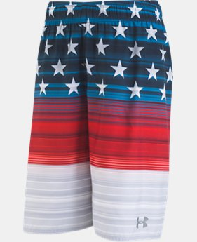 Boys' Pre-School UA Americana Striped Volley  1  Color Available $30