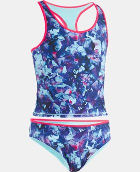 Girls' UA Metaquartz Reversible Tankini  1  Color $45