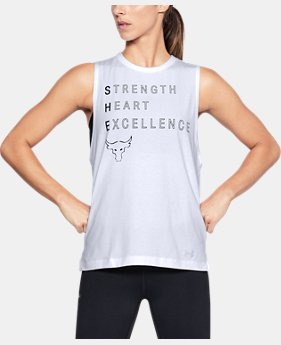 New Arrival Women's UA x Project Rock Rock Motto Muscle Tank  1 Color $39.99
