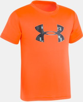 New Arrival Boys' Pre-School UA Wordmark Big Logo T-Shirt LIMITED TIME: FREE U.S. SHIPPING 1  Color Available $18