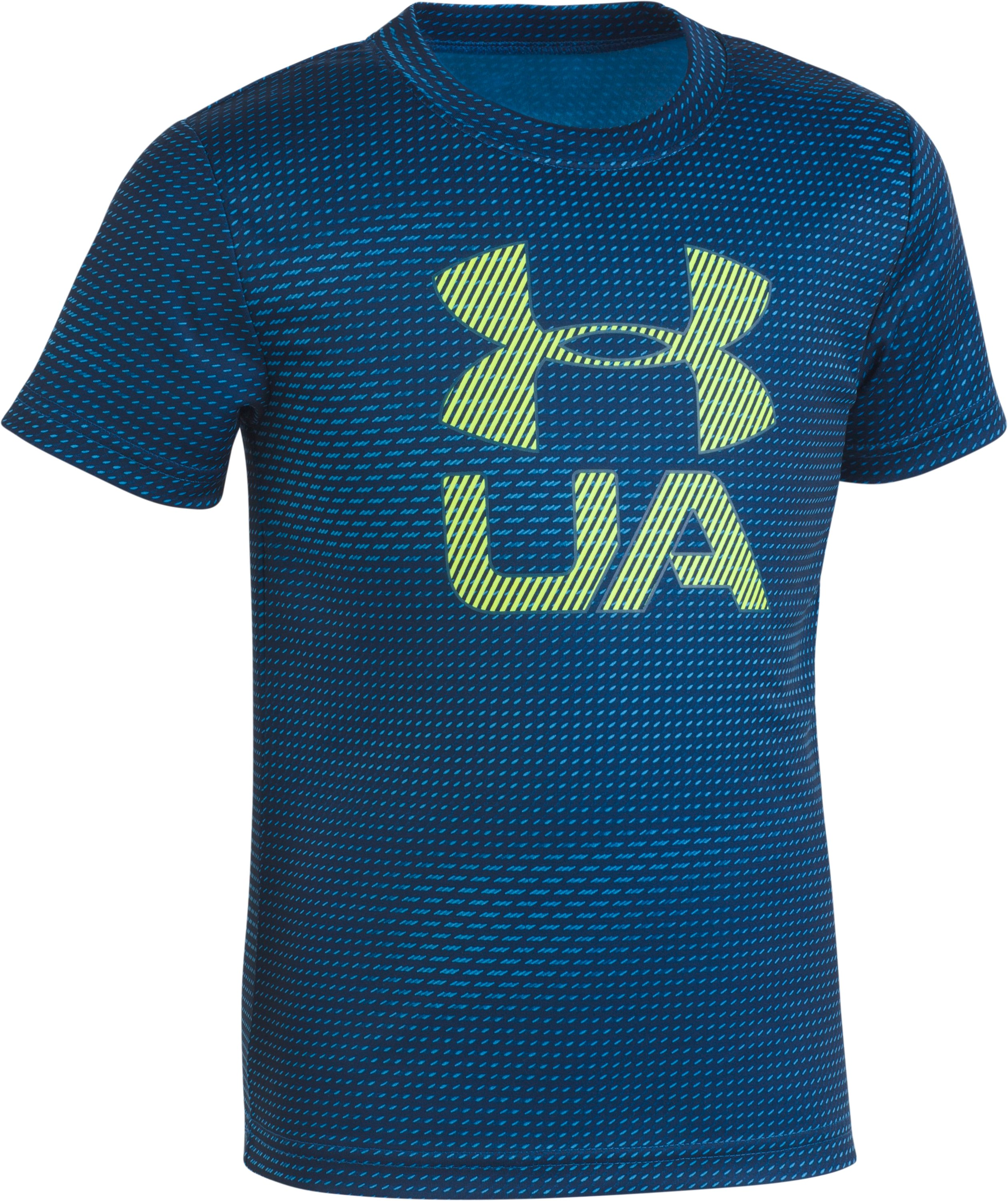 Boys' Toddler UA Sync T-Shirt , Moroccan Blue, Laydown