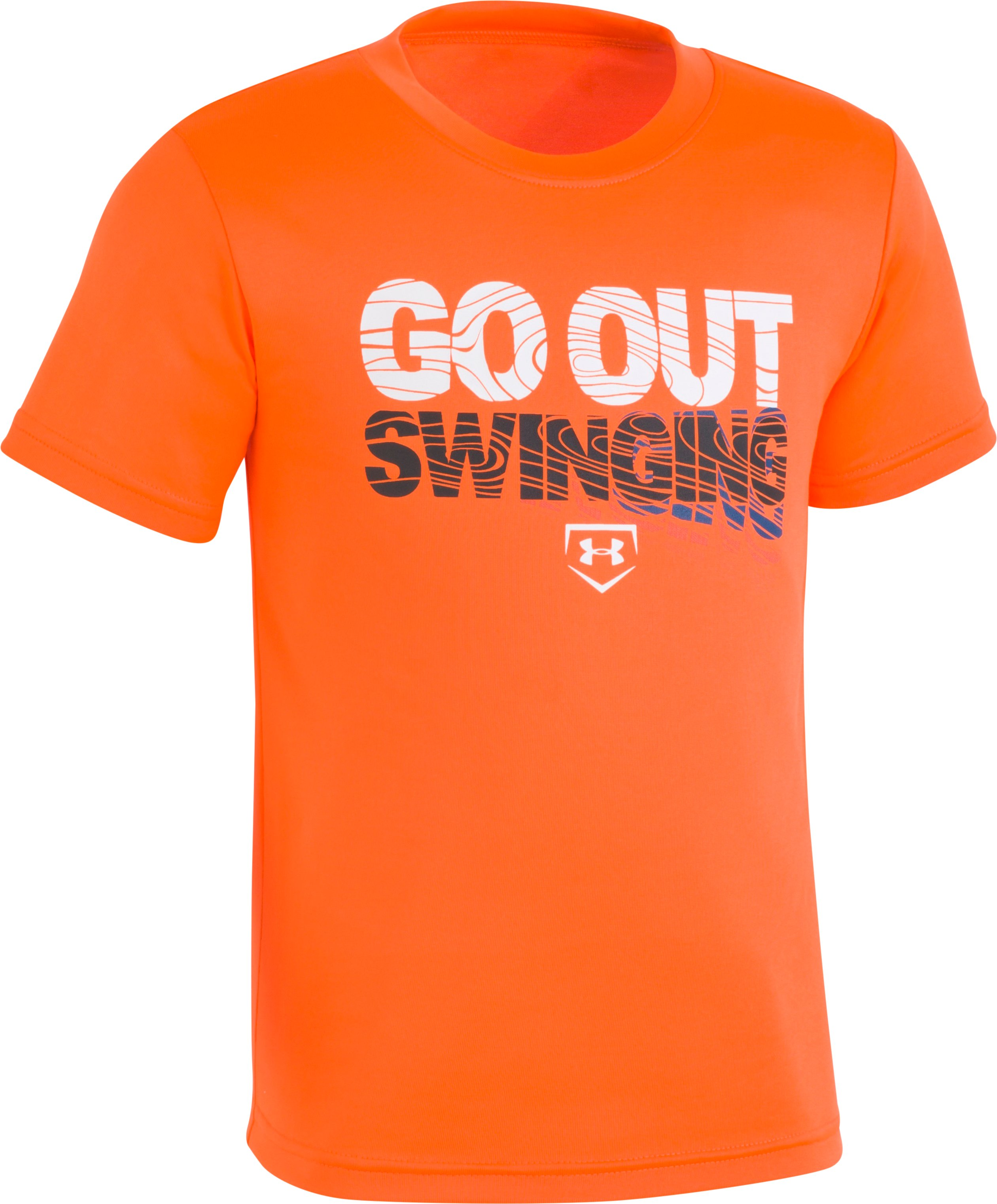 Boys' Pre-School UA Go Out Swinging T-Shirt, MAGMA ORANGE, zoomed