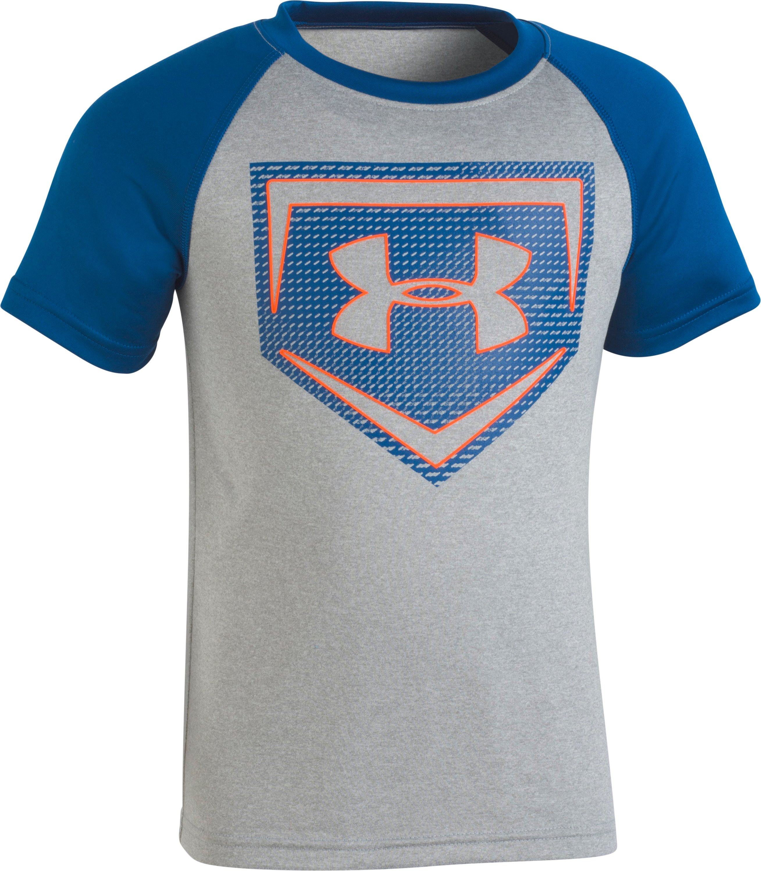 Boys' Toddler UA Sync Home Plate T-Shirt , STEEL MEDIUM HEATHER