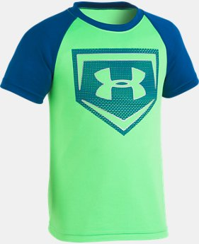 New Arrival Boys' Pre-School UA Metallic Sync Homeplate T-Shirt  1 Color $18