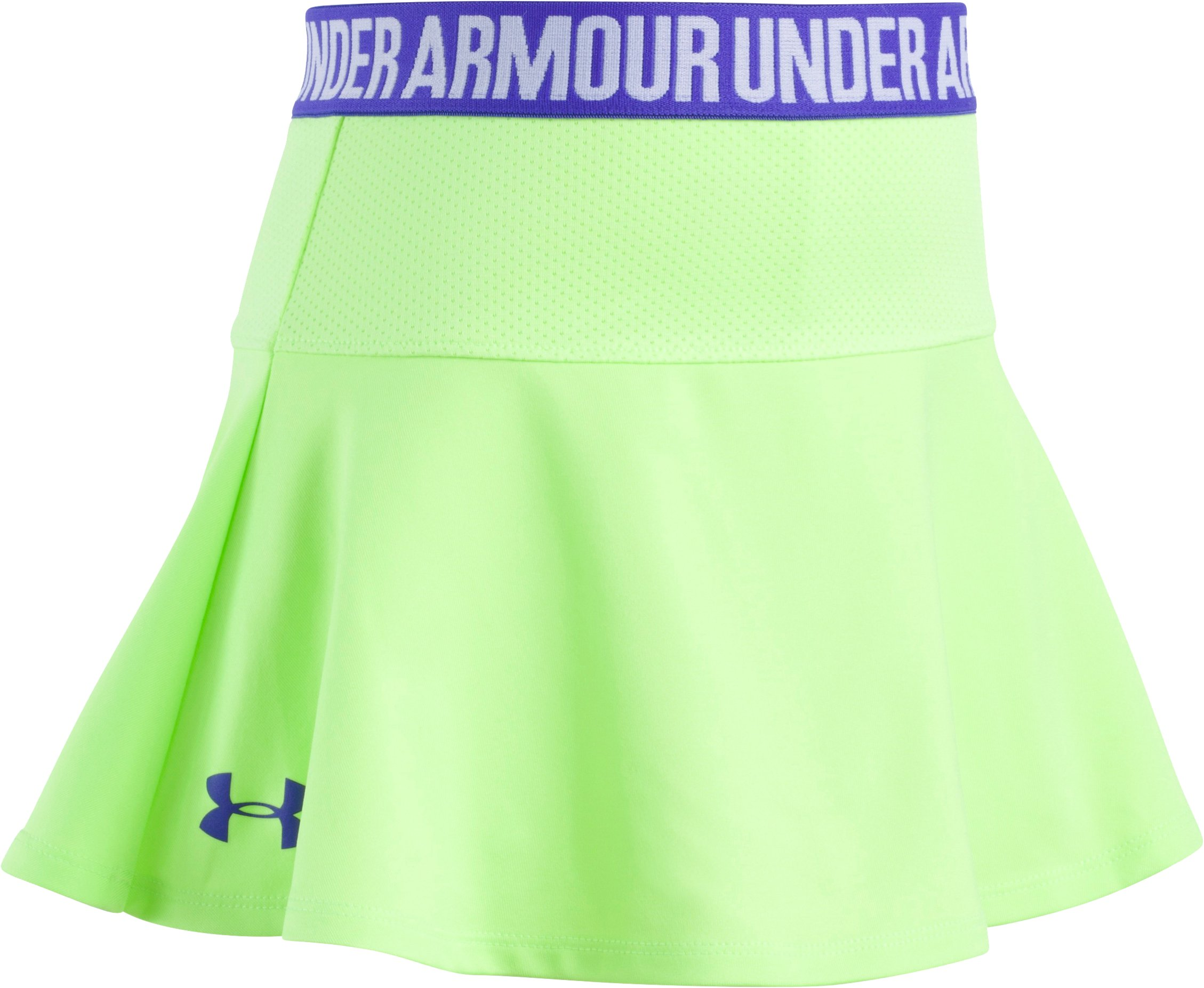 Girls' Pre-School UA On The Move Skort, Quirky Lime, Laydown