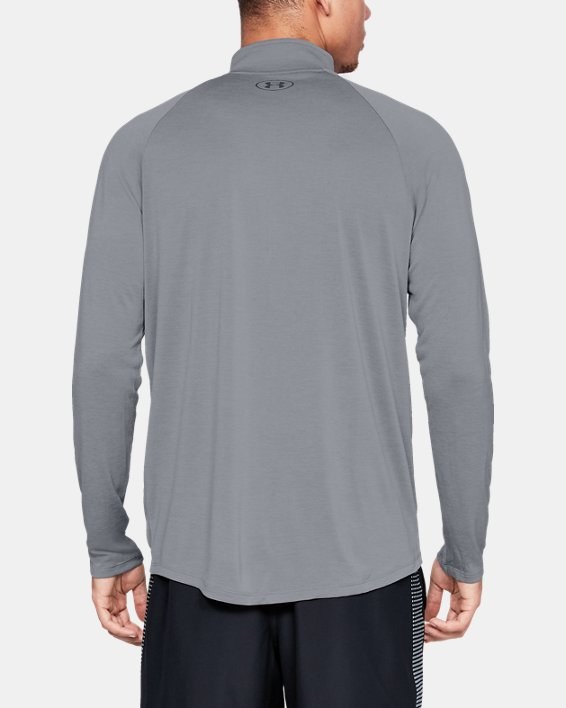 Men's UA Tech™ ½ Zip Long Sleeve, Gray, pdpMainDesktop image number 2