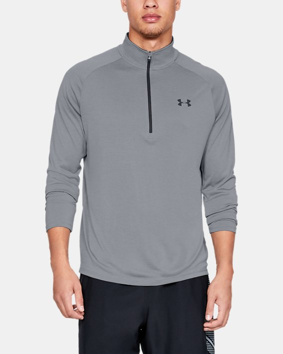 Men's UA Tech™ ½ Zip Long Sleeve, Gray, pdpMainDesktop image number 0