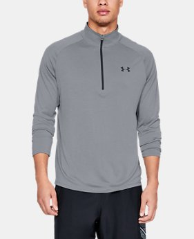Men's UA Tech™ ½ Zip Long Sleeve  1  Color Available $40