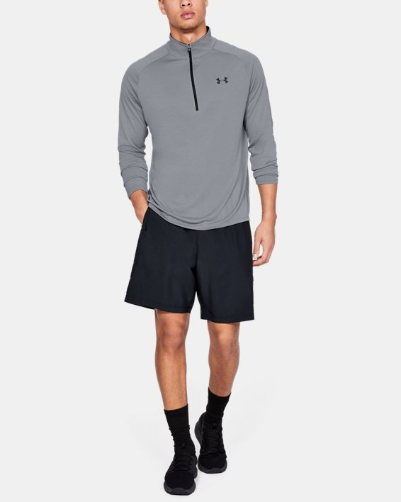 Men's UA Tech™ ½ Zip Long Sleeve, Gray, pdpMainDesktop image number 1