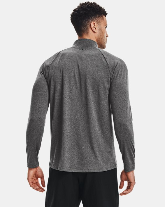 Men's UA Tech™ ½ Zip Long Sleeve, Gray, pdpMainDesktop image number 2