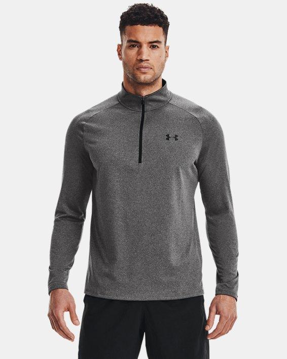 Men's UA Tech™ ½ Zip Long Sleeve, Gray, pdpMainDesktop image number 1