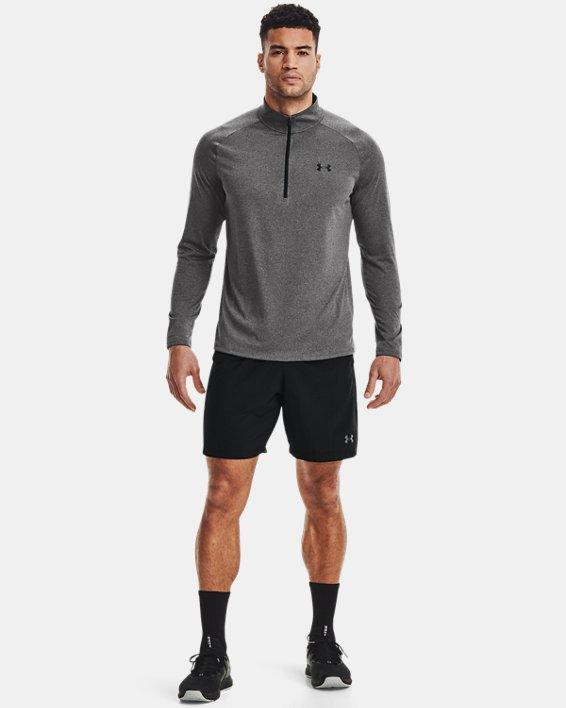Men's UA Tech™ ½ Zip Long Sleeve, Gray, pdpMainDesktop image number 3
