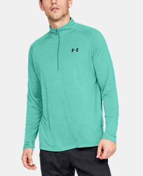 Men's UA Tech™ 2.0 ½ Zip Long Sleeve  2  Colors Available $40