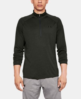 New Arrival  Men's UA Tech™ ½ Zip Long Sleeve  2  Colors Available $50