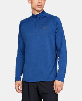 New Arrival Men's UA Tech™ ½ Zip Long Sleeve FREE U.S. SHIPPING 2  Colors Available $40