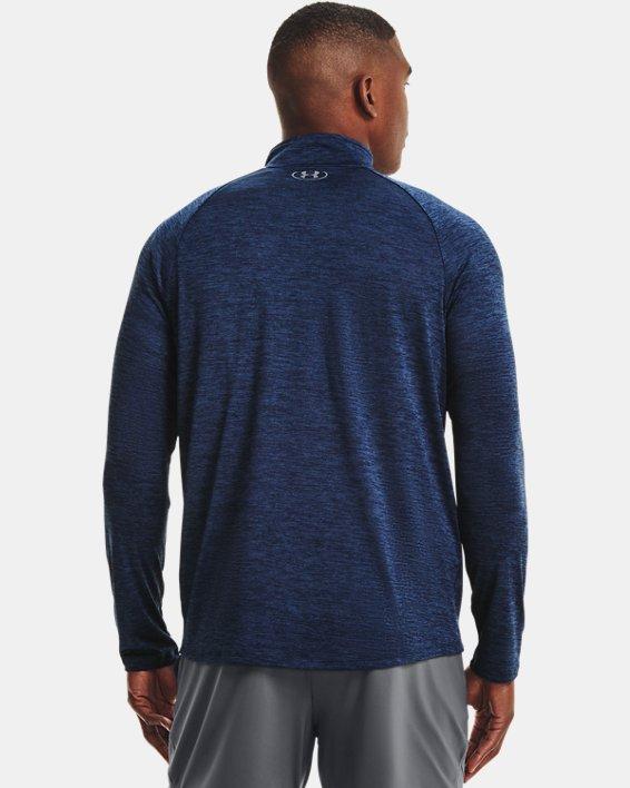 Herren UA Tech™ Langarm-Shirt mit ½-Zip, Navy, pdpMainDesktop image number 1