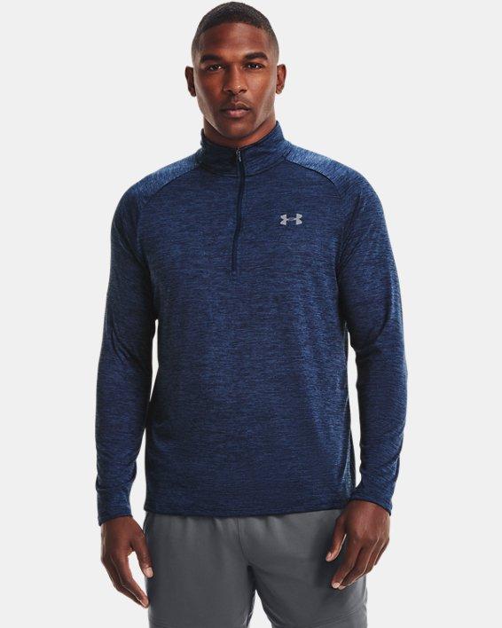 Herren UA Tech™ Langarm-Shirt mit ½-Zip, Navy, pdpMainDesktop image number 0