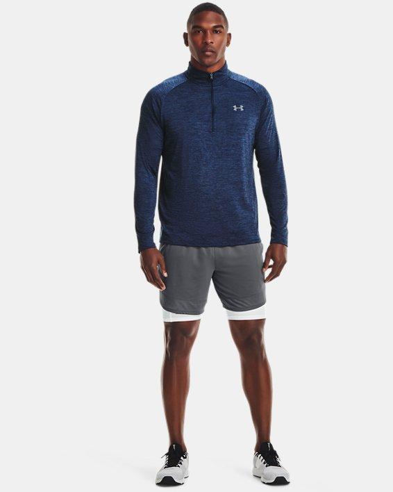 Herren UA Tech™ Langarm-Shirt mit ½-Zip, Navy, pdpMainDesktop image number 2