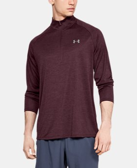 New Arrival Men's UA Tech™ ½ Zip Long Sleeve  2  Colors Available $40