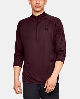 Men's UA Tech™ ½ Zip Long Sleeve  2  Colors Available $40